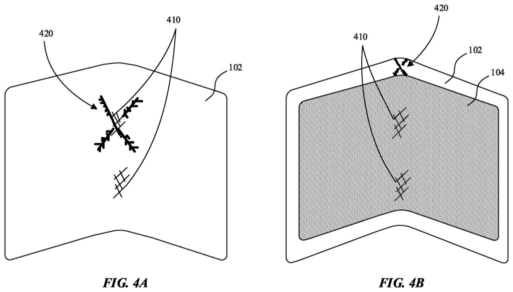 Brevet Apple film protecteur écran pliable (